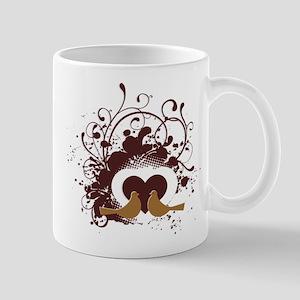 Tuscan Brown Love Birds Mug