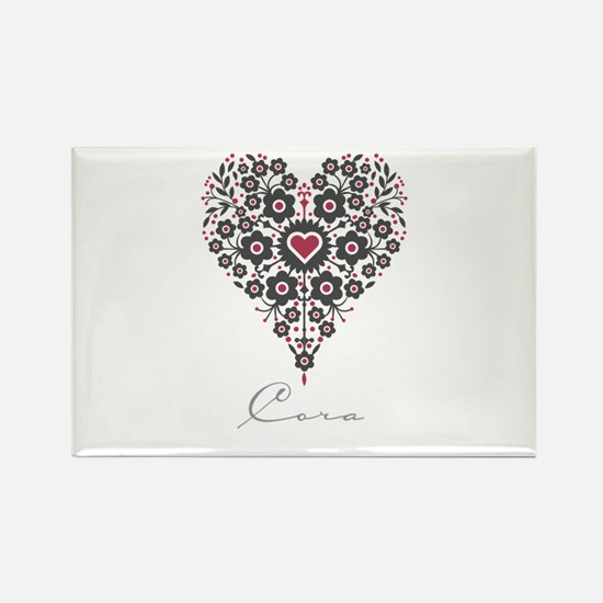 Love Cora Rectangle Magnet