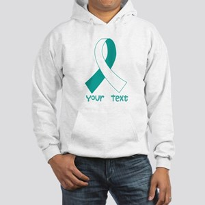 Personalized Cervical Cancer Ribbon Hooded Sweatsh