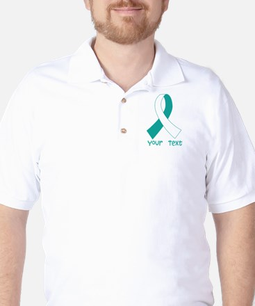 Personalized Cervical Cancer Ribbon Golf Shirt