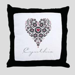 Love Cynthia Throw Pillow