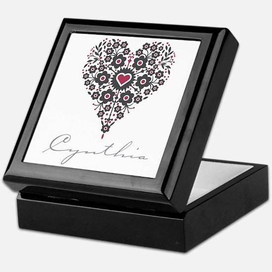 Love Cynthia Keepsake Box