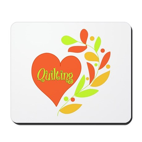Quilting Heart Mousepad