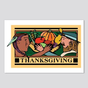Retro Thanksgiving Day Postcards (Package of 8)