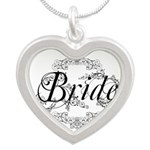 Bride Silver Heart Necklace