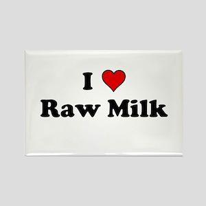 I Heart Raw Milk Rectangle Magnet