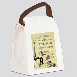 What You Do Not Want - Confucius Canvas Lunch Bag