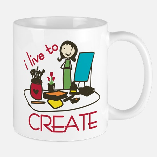 Live To Create Mug