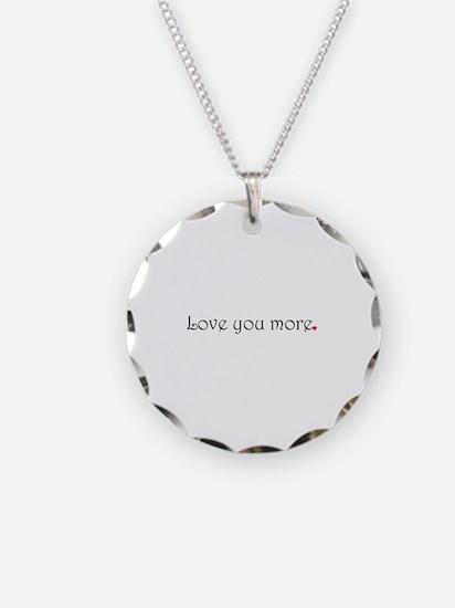 Unique I love you more Necklace