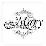 Personalized Mary Design Square Car Magnet 3
