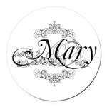 Personalized Mary Design Round Car Magnet