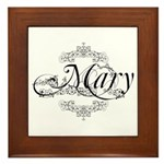 Personalized Mary Design Framed Tile
