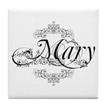 Personalized Mary Design Tile Coaster