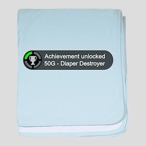 Diaper Destroyer (Achievement) baby blanket
