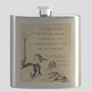 To Those Whose Talents Are Above - Confucius Flask