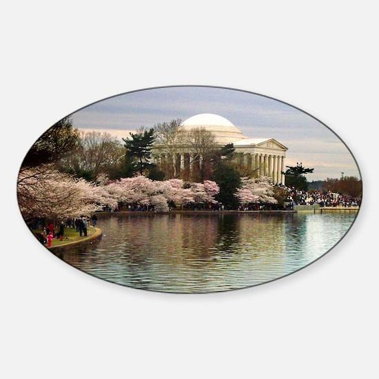 Thomas Jefferson Memorial Sticker (Oval)