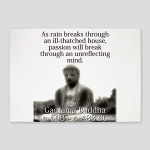 As Rain Breaks Through - Buddha 5'x7'Area Rug