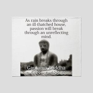 As Rain Breaks Through - Buddha Throw Blanket