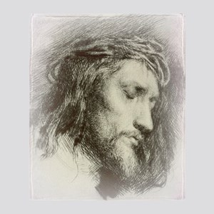Ecce Homo Throw Blanket