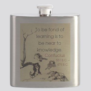 To Be Fond Of Learning Is - Confucius Flask