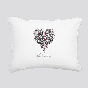 Love Elvia Rectangular Canvas Pillow