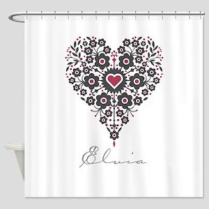 Love Elvia Shower Curtain