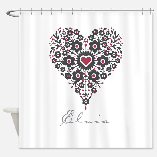 Love Elvia Shower Curtain