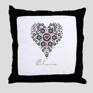 Love Elvia Throw Pillow