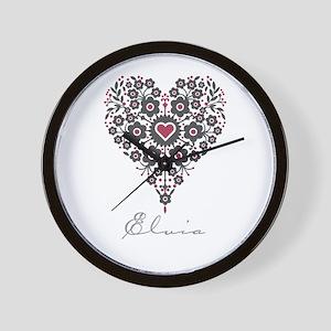 Love Elvia Wall Clock