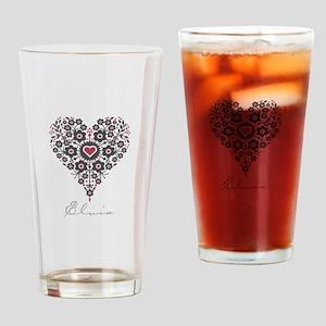 Love Elvia Drinking Glass