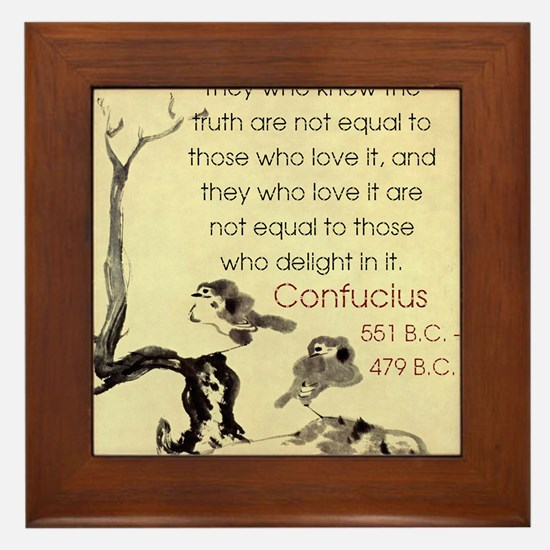 They Who Know The Truth - Confucius Framed Tile