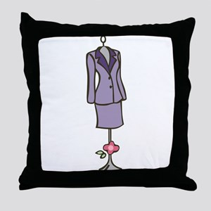 Dress Mannequin Throw Pillow