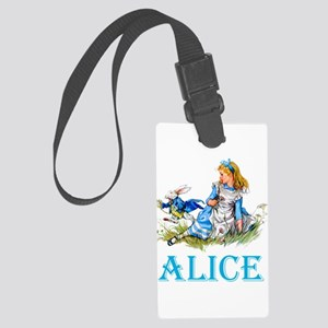 ALICE IN WONDERLAND - BLUE Large Luggage Tag