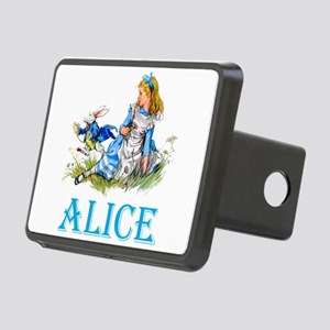 ALICE IN WONDERLAND - BLUE Rectangular Hitch Cover