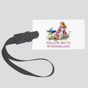 ALICE - Follow Me To Wonderland Large Luggage Tag