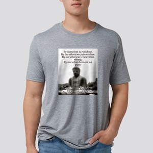 By Ourselves Is Evil Done - Buddha Mens Tri-blend
