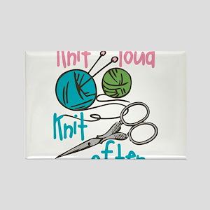 Knit Often Rectangle Magnet