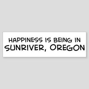 Sunriver - Happiness Bumper Sticker
