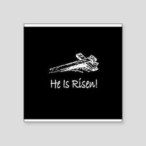 easter he has risen cross darkbutton Sticker