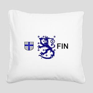 Finland Square Canvas Pillow