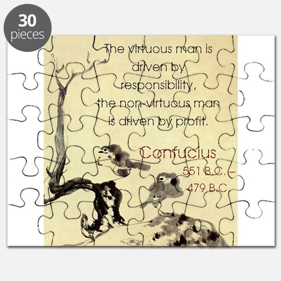 The Virtuous Man Is Driven - Confucius Puzzle