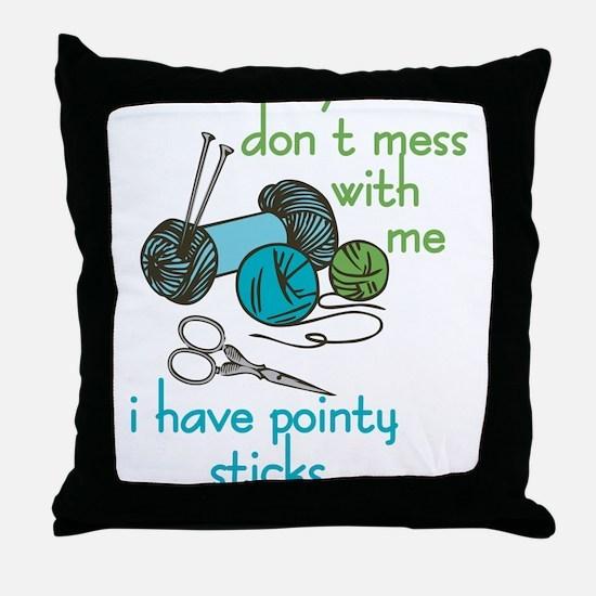Pointy Sticks Throw Pillow