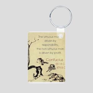 The Virtuous Man Is Driven - Confucius Aluminum Ph