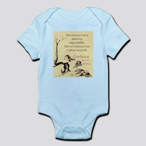 The Virtuous Man Is Driven - Confucius Infant Body