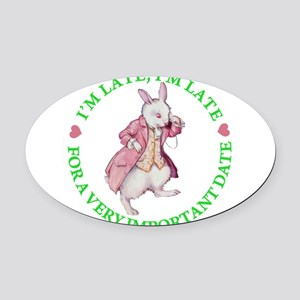 alice rabbit late late copy 2 GREEN Oval Car M