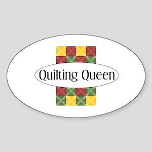 Quilting Queen Rectangle Sticker
