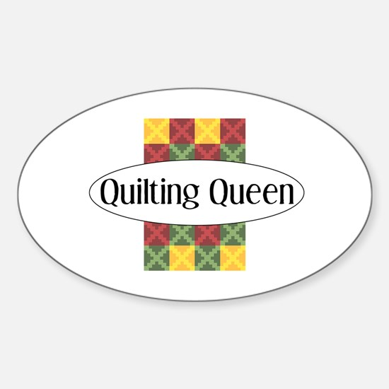Quilting Queen Rectangle Decal