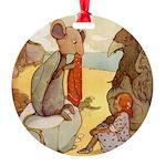 Alice in Wonderland014 SQ.png Round Ornament