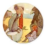 Alice in Wonderland014 SQ.png Round Car Magnet