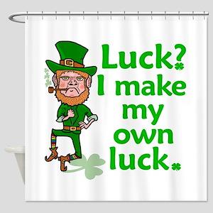 Funny Angry Lucky Irish Leprechaun Shower Curtain